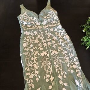 Fashion Nova Dresses - Mint Green and White Floral Gown